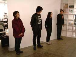 今回参加した4人(右から、北島、蔵、本山、笹岡)
