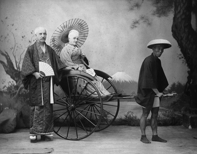 玉村康三郎「人力車」1880年代