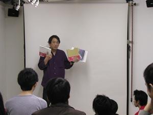 上映前に今回のトークショーゲスト岡村民夫さんをお招きするきっかけとなったICANOFについて説明。