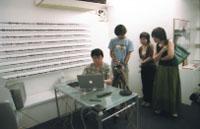 椹木氏のいるイカヅチ部屋。 オーディエンスも自由に 三室を行き来できる。