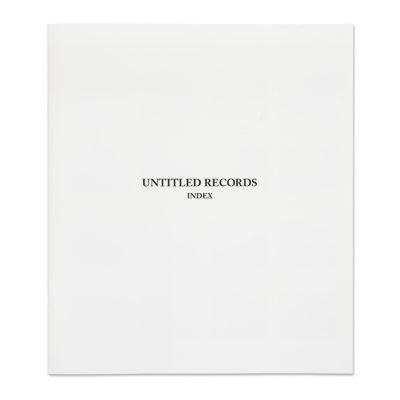 Keizo Kitajima/北島敬三 「UNTITLED RECORDS vol. 1-20 INDEX」
